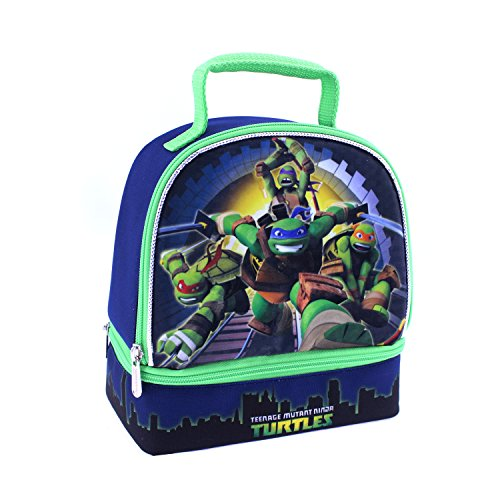 Global Design Concepts Ninja Turtles Dual Lunch Kit, Blue/Green - 1