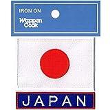 日本国旗ワッペン 日の丸S+JAPANネームブルーセット