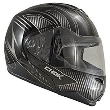 Casque moto modulable CHOK FIGHTER CARBONLINE 15 - Double écran - Noir
