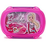 Mattel Barbie Space Plastic Lunch Box, 500ml, Pink
