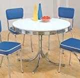 50's Retro Nostalgic Style Chrome Plated Round Dining Table