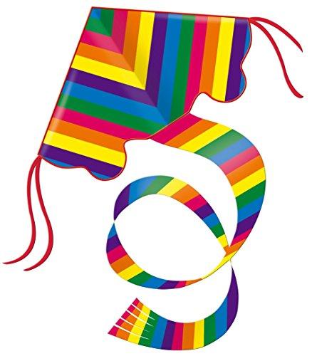Guenther 1159 - Cometa de nailon diseño arco iris, 97 x 58 cm [Importado de Alemania]