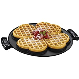 George Foreman GRP106WP 2 Removable Nonstick Heart-Shaped Waffle Plates for the George Foreman Grill
