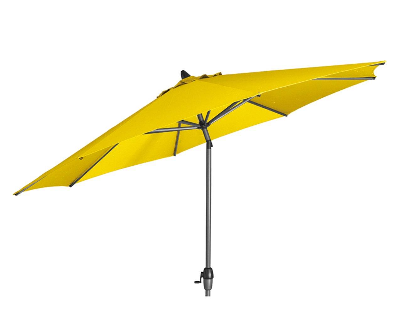Siena Garden 673232 Azaro Marktschirm Bezug gelb Gestell anthrazit Ø 300 cm
