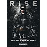 The Dark Knight Rises Poster Signed PP by 6 Batman Christian Bale, Morgan Freeman, Christopher Nolan, Gary Oldman, Tom Hardy, Anne Hathaway Catwoman A4 Size 21cm x 29.7cm