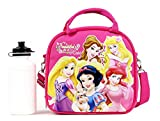 Disney Princess Lunch Box Carry Bag with Shoulder Strap and Water Bottle