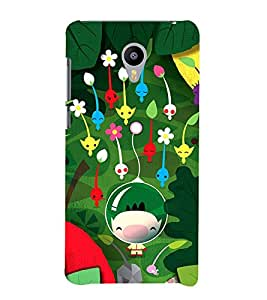 Vizagbeats cartoon flowers Back Case Cover for MEIZU M2 new model