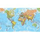 """Giant World MegaMap, Laminated, 77"""" x 46"""""""