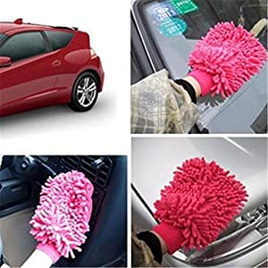 ShungHO Random Color Premium Microfiber Chenille Glove Car Cleaning and Cleans Your Home