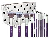 BS-MALL(TM) Premium Synthetic 11 PCS Makeup Brushes Set(Silver Purple)