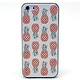 He Yang Pineapple White Black Bumper Hard Plastic Case Skin Cover for Apple Iphone 5C