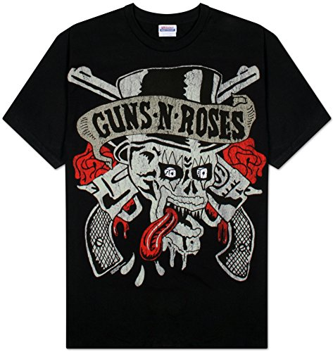 Bravado Men's Guns n' Roses Skull Shirt - Black or White Ringer - S to XXL