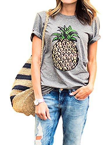 dragonpad-womens-casual-pineapple-print-short-sleeve-top-tee-t-shirt-grey-l