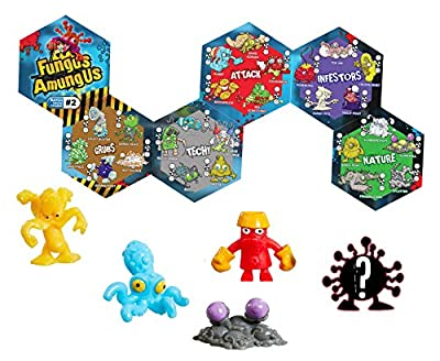 Vivid Imaginations Fungus Amungus Vac Collection Figure (Pack of 5, Multi-Colour)