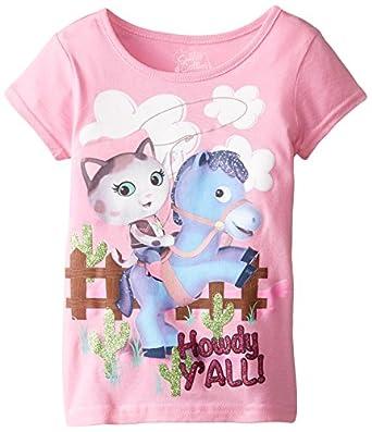 Disney Little Girls' Sheriff Callie Howdy Graphic Tee