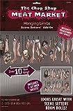 Wanddeko abgehakte Körperteile 85 x 165 cm Halloween Deko Wand Dekoration Wandbild Folie Halloweendeko