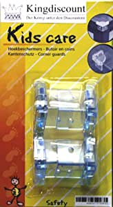 Kingdiscount K1036 - Protectores infantiles para esquinas de mesas y muebles (4 unidades)