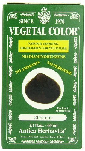 Herbatint Vegetal Hair Color, Chestnut, 2.1 Fluid Ounce (Vegetal Hair Dye compare prices)
