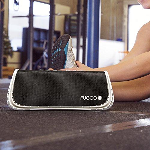 FUGOO Sport XL - Portable Rugged Waterproof Wireless Bluetooth Speaker 35 Hrs Battery Life with Built in Speakerphone (Black/White)