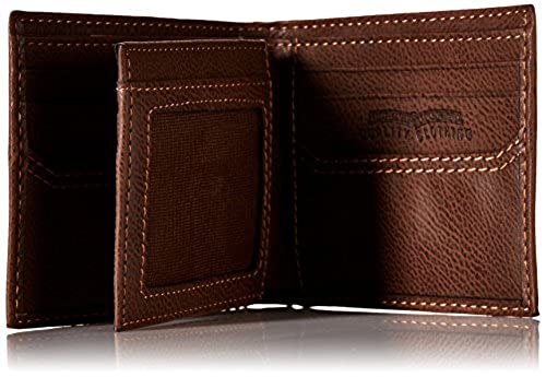 01. Levi's Men's Extra Capacity Leather Slimfold Wallet