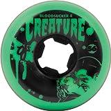 Creature Bloodsuckers 56mm 97a Green/Black Wheels (Set Of 4)