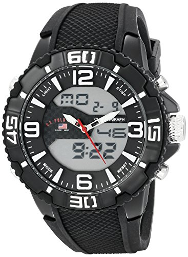 U.S. Polo Assn. Sport Men's US9509 Analog-Digital Display Analog Quartz Black Watch