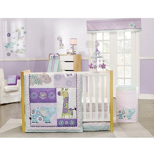 Carter's Zoo Garden 4 Piece Crib Bedding Set