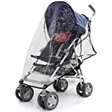 Chicco Snappy Rain Cover Stroller Throw Over Raincover Fits Obaby Atlas, Tippitoes Strollers, Maclaren Quest Triumph, Chicco London, Chicco Liteway, Chicco Snappy, Zeta, Graco Nimbly