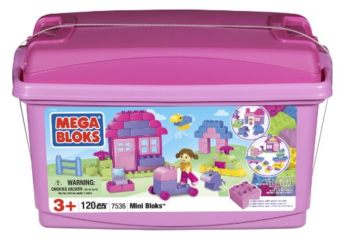 Mega Bloks Mini Bloks Pink Tub (120) (Building Blocks Pink Tub compare prices)