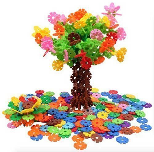 AWESOME Flakes 300 Discs Building Set Engineering Toy - Promotes Fine Motor Skills Development - Therapy Tools | STEM Challenges | KIDS SAFE Material! Lab Test Approved! (Brain Development Games compare prices)
