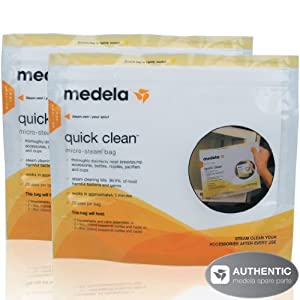 Medela Quick Clean Micro-Steam Bags - 2 Pack(each pack contains 5 bags)