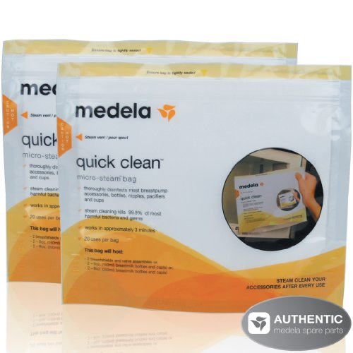 Medela Quick Clean Micro-Steam Bags - 2 Pack(each pack contains 5 bags) - 1