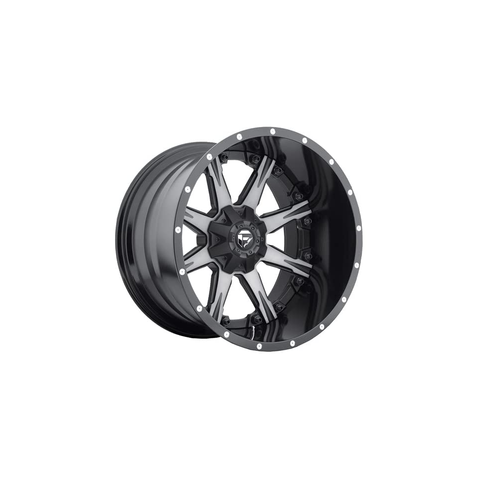 Fuel Nuts 20 Black Machined Wheel / Rim 8x180 with a 1mm Offset and a 125.2 Hub Bore. Partnumber D25220901850