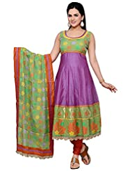 Roopali Creations Women's Chanderi Silk Salwar Suit Set - B013SVNJ50