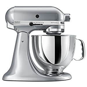 Artisan Series 5 Qt. Stand Mixer with Pouring Shield Color: Metallic Chrome