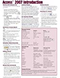 Microsoft Access 2007 Introduction Quick Reference Guide (Cheat Sheet of Instructions, Tips & Shortcuts - Laminated Card)