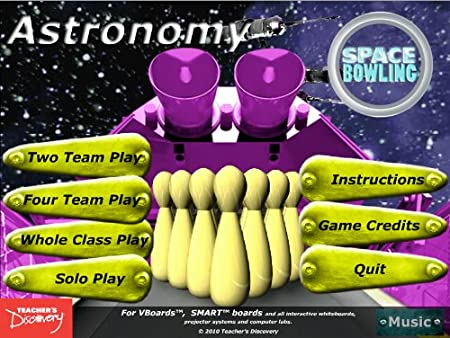 Astronomy Space Bowling Game