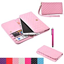 buy Lg G4 Case,Jcmax Noble Fashion Design Superior Pu Leather Wallet Case [No Slip] Fitted Shell Stand Folding Magnetic Cover Extreme Lightweight Slim Skin For Lg G4 - Pink