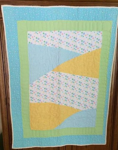 In Stock!!! Ships Same Day!!! Amish Made Baby Boy Or Girl Crib Quilt In Polka Dots** front-1057127