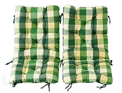 Ambientehome 2er Set Polsterauflage für Klappstuhl, kariert grün, ca 90 x 40 x 8 cm, Kissen Sitzauflage von Ambientehome - Gartenmöbel von Du und Dein Garten