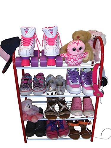 compact-shoe-organizer-rack-ladies-kids-shoe-racks-for-closet-or-entryway-smart-metal-closet-shoe-ra