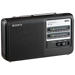 Sony ICF38 Portable AM/FM Radio (Black)