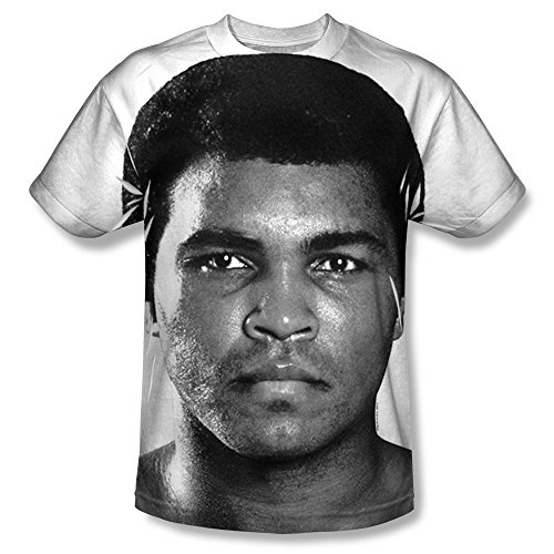 Muhammad Ali The Greatest American Boxer Fight Stare Adult Front Print T-Shirt