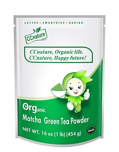 CCnature Organic Matcha Green Tea Powder 1lb (Tamaño: Culinary Grade 16oz)