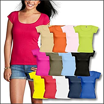 Sols - Boat Neck T-Shirt 'Melrose' S,Apple Green