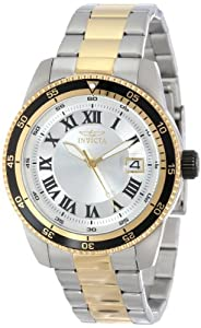 Invicta Men's 13990 Pro Diver Automatic Silver Dial Two Tone Stainless Steel Watch