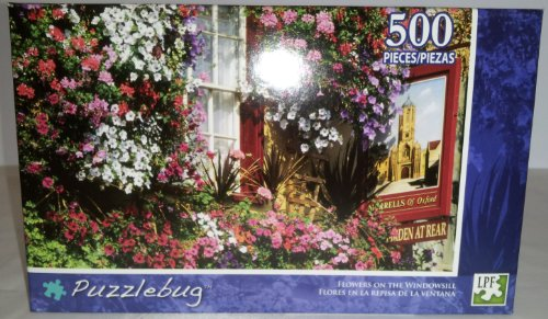 Puzzlebug 500 Piece Puzzle - Flowers on the Windowsill - 1
