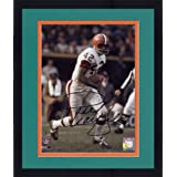 Framed Paul Warfield Cleveland Browns Autographed 8'' x 10'' Run With Ball Photograph -... by
