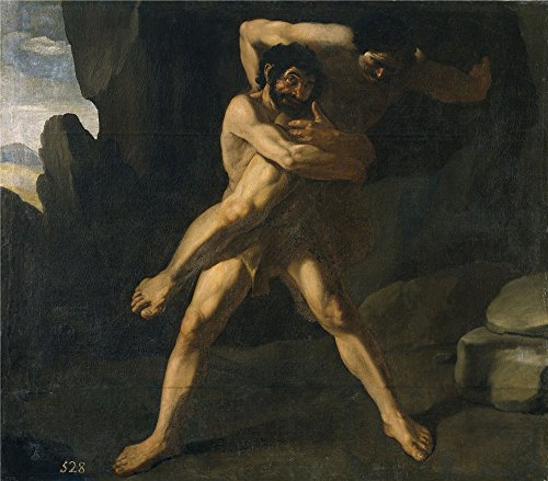 [Oil Painting 'Zurbaran Francisco De Hercules Luchando Con Anteo 1634 ' Printing On High Quality Polyster Canvas , 18 X 21 Inch / 46 X 52 Cm ,the Best Kids Room Artwork And Home Gallery Art And Gifts Is This High Definition Art Decorative Canvas] (Hercules Costumes Ideas)