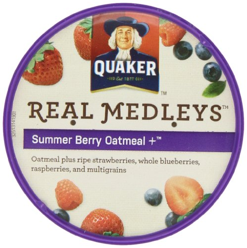Quaker Real Medleys Summer Berry Oatmeal +, (Pack Of 12)